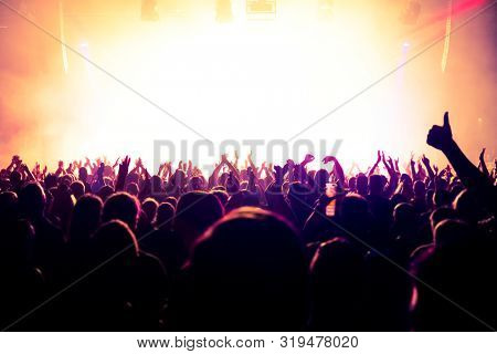 crowd of people at rock concert
