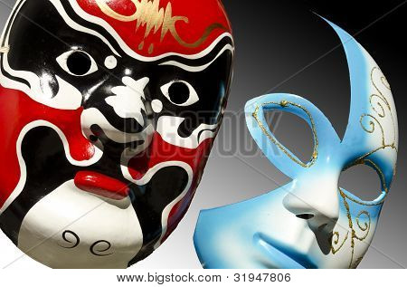 Two Colorful Face Masks