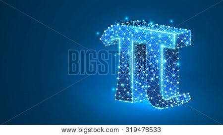 Pi, The Letter Of A Greek Alphabet. Greek Numerals, Mathematical Number Eighty Concept. Abstract, Di