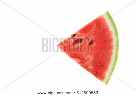 Slices Of Juicy Ripe Red Watermelon On A White Background. Fresh Watermelon Juice. Cocktails And Sof