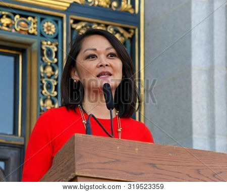 San Francisco, Ca - August 26, 2019: County Assessor Recorder Carmen Chu Speaking At The 2nd Annual