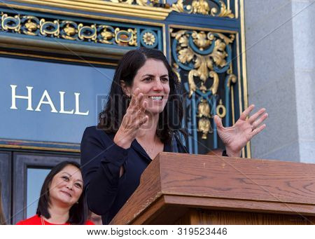 San Francisco, Ca - August 26, 2019: Board Of Supervisors Hillary Ronin Speaking At The 2nd Annual W