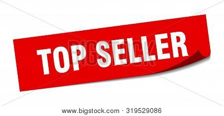 Top Seller Sticker. Top Seller Square Isolated Sign. Top Seller