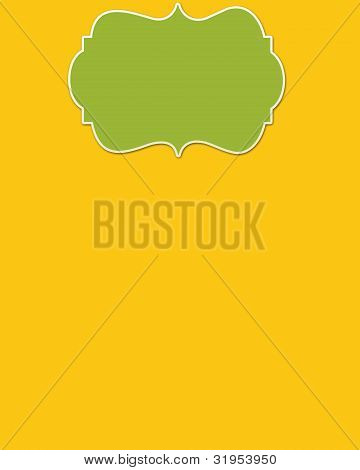 Yellow Background & Lime Header