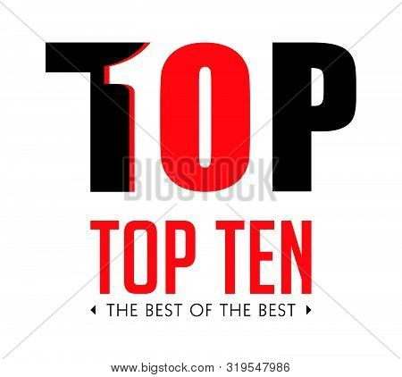 Top Ten - List Of Bestsellers - The Best Of The Best Concept