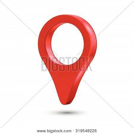 Red Pin Marker - Geo Location Destinaton Point Concept