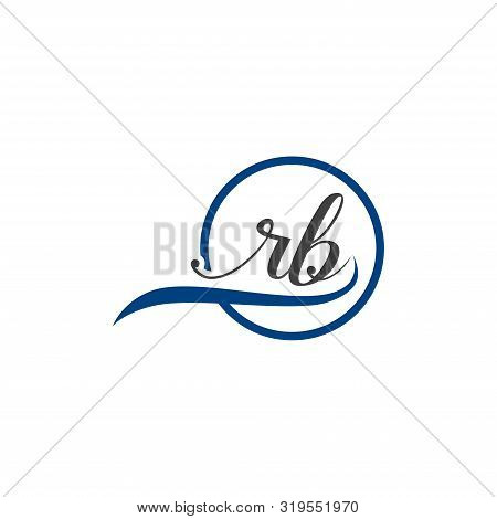 Initial Lowercase Letter Rb Rounded Logo On Multiple Backgrounds, Rb Logo,  Rb Initial Logo.  Rb Mon