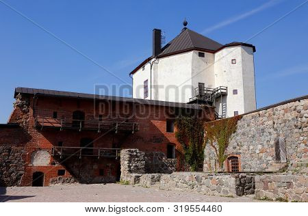 View Of The Medieval Nykoping Castle With Its Court Yard Located In The Swedish Province Of Soderman