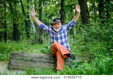 Magician In Forest. Herbal Remedies. Freak Healer. Supernatural Or Superstitious. Person Purported M