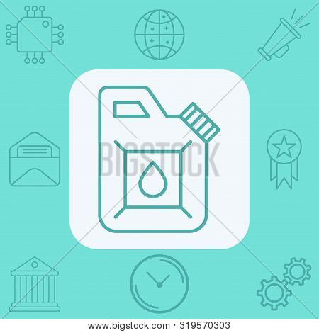 Jerrycan Icon Vector, Filled Flat Sign, Solid Pictogram Isolated On White. Symbol, Logo Illustration