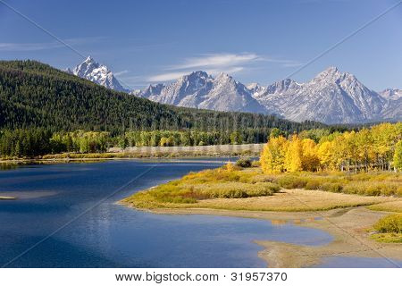 Oxbow Bend In Autumn Splendor