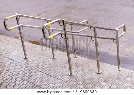 Stainless Steel Handrails Are Installed On The Teps.safe Movement.holder Handrail Railing Stainless