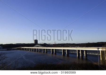 The bridge from Stockholm to Lidingö