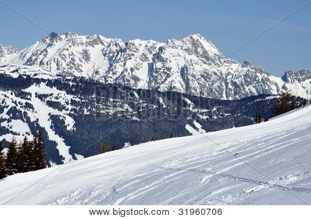 Winter In Zell Am See Ski Resort, Austrian Alps