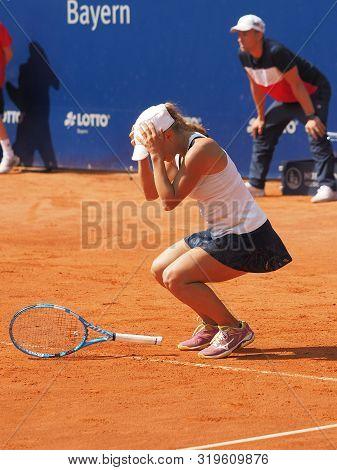 Nuremberg, Germany - May 25, 2019: Kazach Tennis Player Yulia Putintseva Winning The Final At The Eu