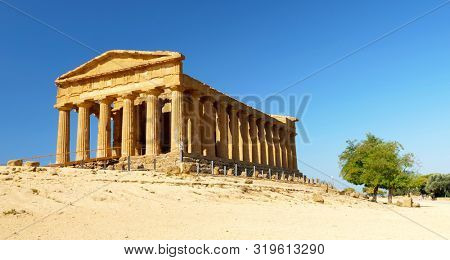 Temple of Concordia in the Valley of Temples- Agrigento in Sicily