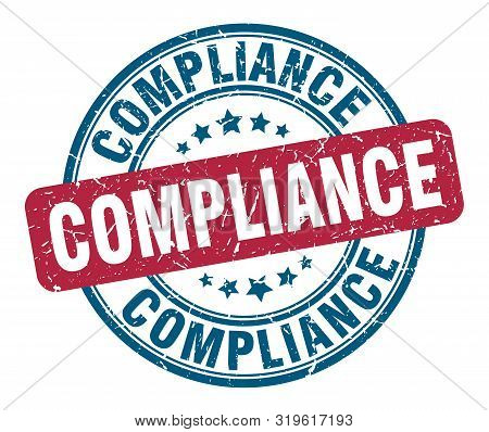 Compliance Stamp. Compliance Round Grunge Sign. Compliance