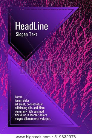 Brochure Layout Design Template. Plastic Pink, Proton Purple Esports Texture. Buzzing Flux Ripple Mo