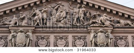 The Composition Of The Facade Of The Opera House In Lviv