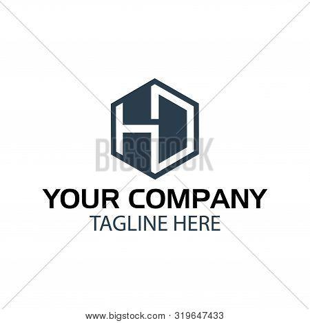 Letter Hd Stock Logo, Hd Initial., Flat Design. Hd Monogram