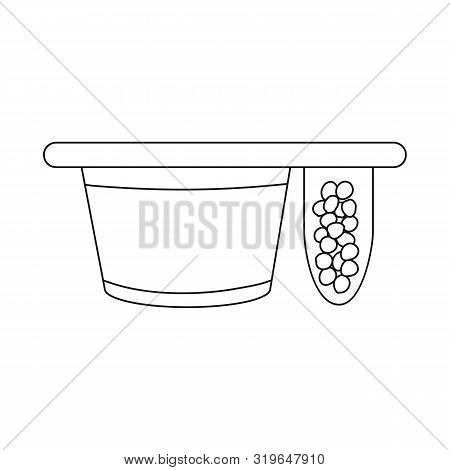 Vector Illustration Of Packing And Yogurt Sign. Collection Of Packing And Crispy Stock Vector Illust