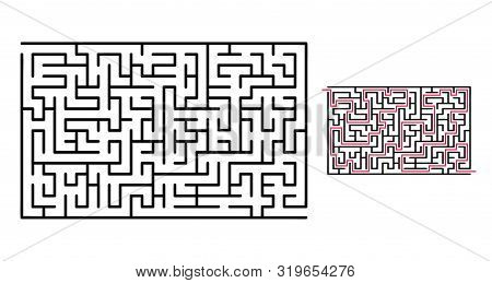 Abstract Maze / Labyrinth With Entry And Exit. Vector Labyrinth 272.