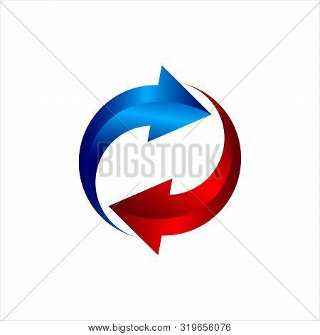 Vector Logo Heating And Cooling. Abstract Illustration,