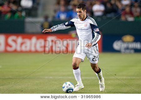 CARSON, CA. - APRIL 30: New England Revolution M Benny Feilhaber #22 during the MLS game on April 30 2011 at the Home Depot Center.