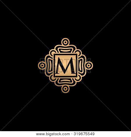 M Letter Logo, M Monogram Logo, M Letter With Ornament Logo