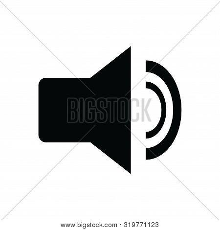 Sound Icon Isolated Black On White Background, Sound Icon Vector Flat Modern, Sound Icon, Sound Icon