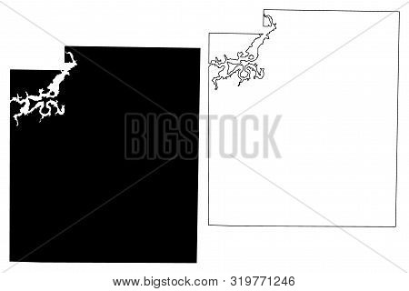 Palo Pinto County, Texas (counties In Texas, United States Of America,usa, U.s., Us) Map Vector Illu