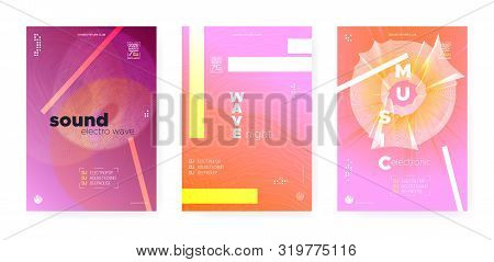 Electronic Festival Backdrop. Psychedelic Music Concept. Dj Party. Dance Event. Trance Electronic Motion Background. Orange Music Banner. Dj Beats. Wave Fluid. Electronic Motion Background. poster