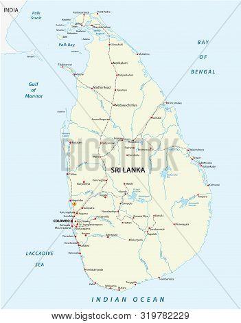Democratic Socialist Republic Of Sri Lanka Railway Map