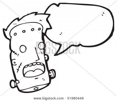 cartoon frankenstein monster head