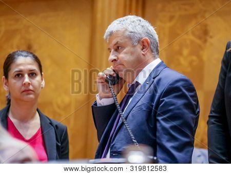 Bucharest, Romania - June 26, 2019: Florin Iordache, Vice-president Of The Chamber Of Deputies, Spea