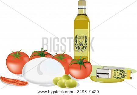 Mozzarella Tomato Oil Produced In Italy Mozzarella Tomato Oil Produced In Italy