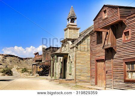 Far West Old Town In The Desert Of Tabernas, Almeria, Spain.