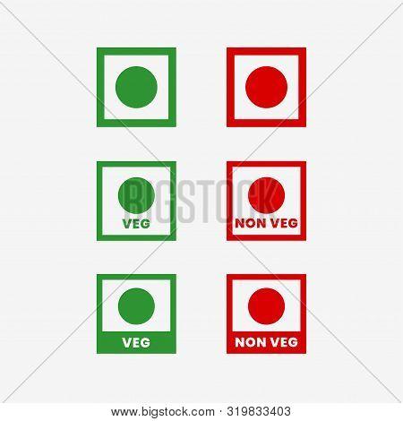 Veg And Non Veg Food Symbols Set