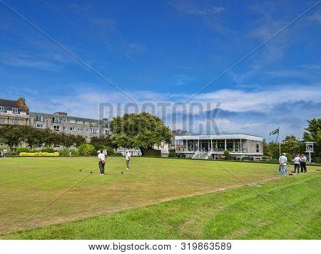 8 June 2018: Plymouth, Devon Uk - Plymouth Hoe Bowling Club