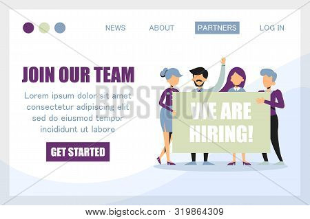 Join Our Team, We Are Hiring Banner For The Website Template