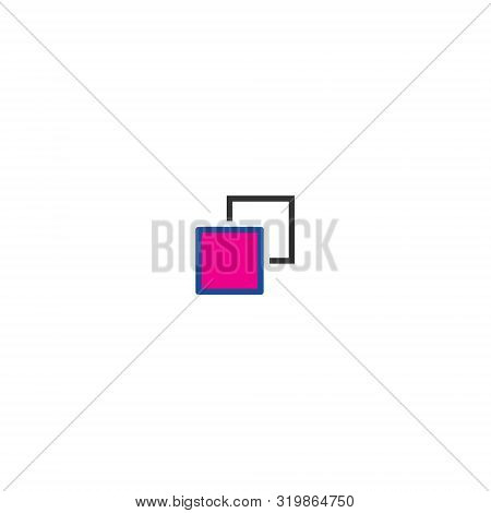 Apps Solo Color Line. Graphic Design Geometric Shape. Abstract Technology Background. Web Icon. Mode