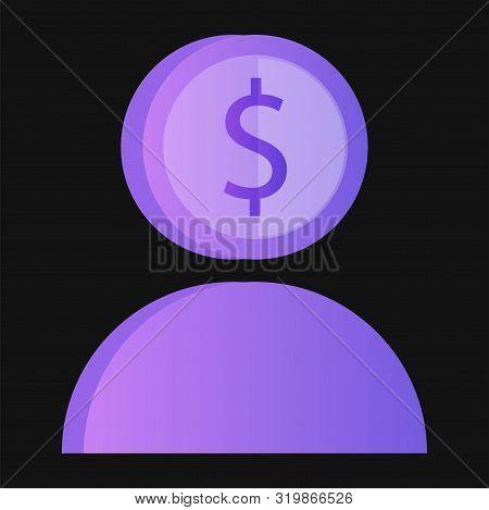 Rich Man Millionaire Magnate Male Character Illustration