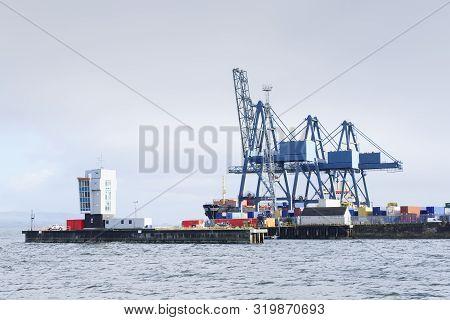 Shipbuilding Cantilever Crane River Clyde Building Boats Ships Docks Shipyard Port Glasgow Greenock