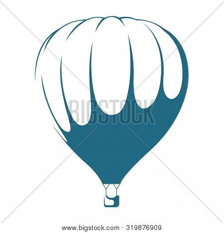 Vector Drawn Hot Air Balloon. Isolated On White Background.