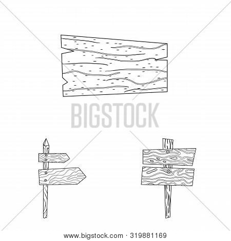 Vector Illustration Of Hardwood And Material Icon. Set Of Hardwood And Wood Vector Icon For Stock.