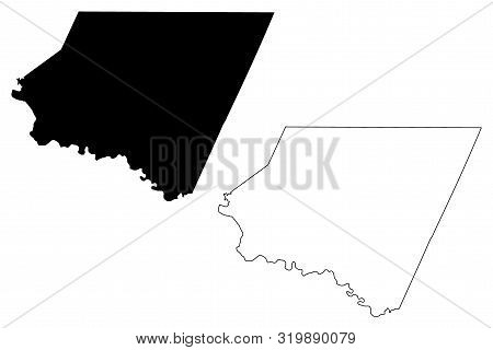 Starr County, Texas (counties In Texas, United States Of America,usa, U.s., Us) Map Vector Illustrat