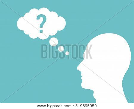 Head Cloud Think For Concept Design. Isolated Think Cloud.think Idea Concept. Head Cloud Think In Fl