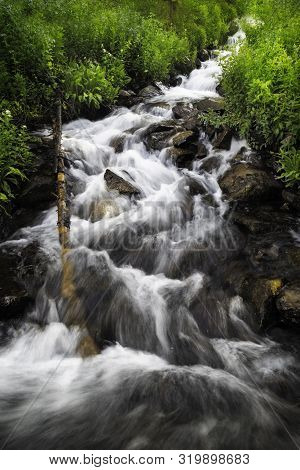 Rushing Colorado Mountain Stream