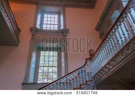 Philadelphia Pa / Usa - August 23rd 2014: Stairs Inside Of Independence Hall In Philadelphia Pennsyl