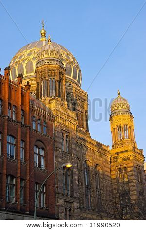 The beautiful New Synagogue in Berlin